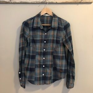Women's Blue/Pink Plaid Button Down - Size Small